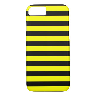 Black Yellow Stripe horizontal iPhone 7 case