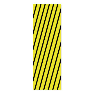 Black & Yellow Stripes Bookmark Business Card Template