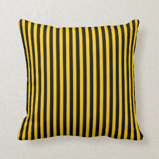 Black/Yellow Stripes Colored Pillow
