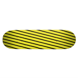 Black & Yellow Stripes Skateboard Deck