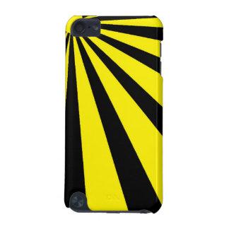 Black & Yellow Vortex iPod Touch Case