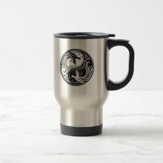 Black Yin Yang Dragons Coffee Mug