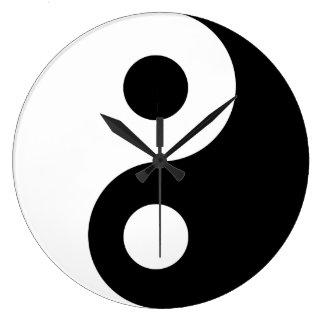 Black Yin Yang Wall Clock
