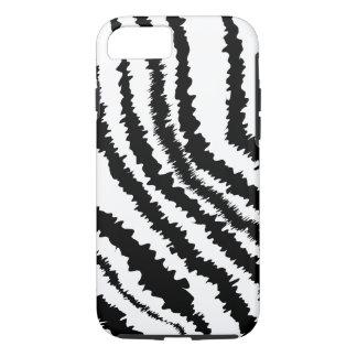 Black Zebra Pattern. iPhone 8/7 Case