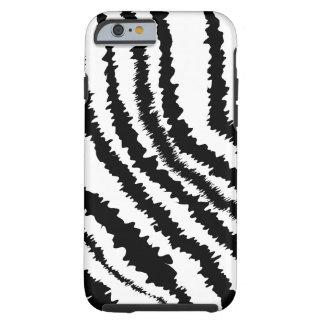 Black Zebra Pattern. Tough iPhone 6 Case
