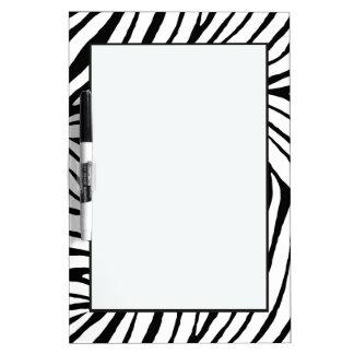 Black Zebra Print Dry Erase Board