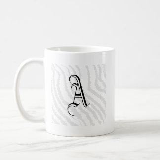 Black Zebra Print Pattern. Basic White Mug