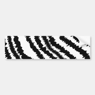 Black Zebra Print Pattern. Bumper Stickers