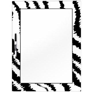 Black Zebra Print Pattern. Dry Erase Board