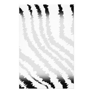 Black Zebra Print Pattern. Flyer