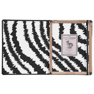 Black Zebra Print Pattern iPad Case