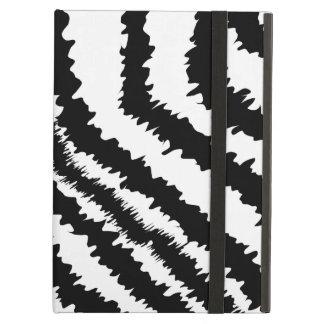 Black Zebra Print Pattern. iPad Cover