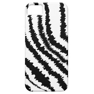 Black Zebra Print Pattern. iPhone 5 Cover