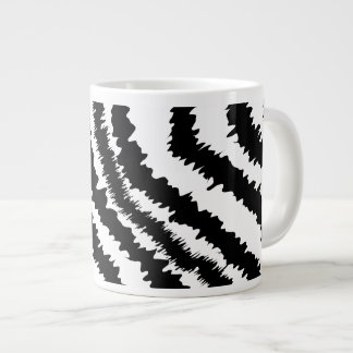 Black Zebra Print Pattern. Jumbo Mug