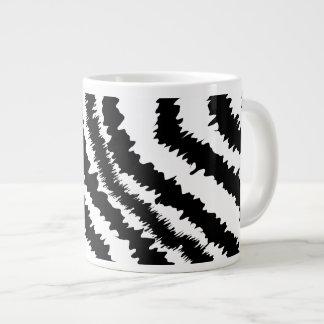 Black Zebra Print Pattern. Large Coffee Mug