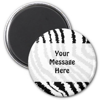 Black Zebra Print Pattern. Magnet