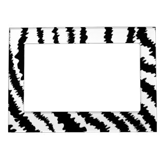 Black Zebra Print Pattern. Magnetic Picture Frame
