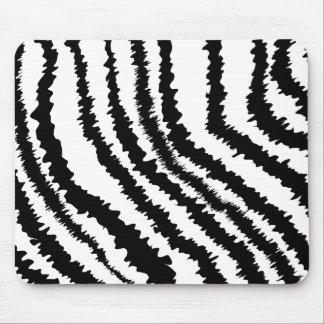 Black Zebra Print Pattern. Mouse Mat