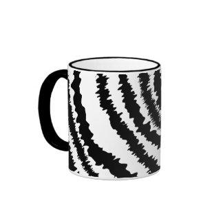 Black Zebra Print Pattern. Coffee Mug