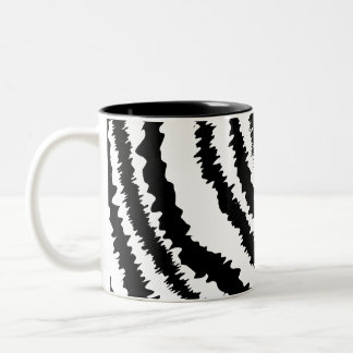 Black Zebra Print Pattern. Mugs