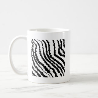 Black Zebra Print Pattern. Mug