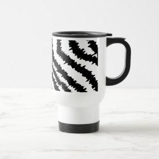 Black Zebra Print Pattern. Coffee Mugs