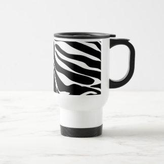 Black Zebra Print Pattern Mugs