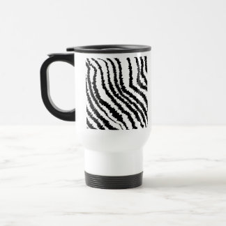 Black Zebra Print Pattern Mug