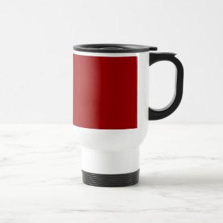 Black Zebra Print Pattern on Deep Red. Coffee Mugs