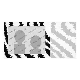 Black Zebra Print Pattern Custom Photo Card