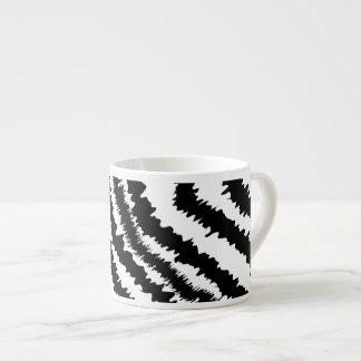 Black Zebra Print Pattern. Espresso Cups