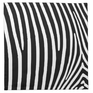 Black Zebra Stripes Napkin