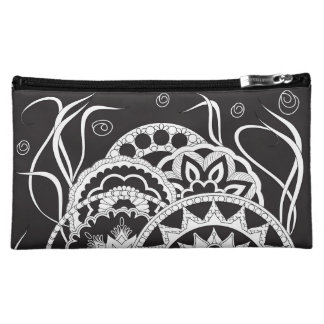 black zen pattern with sends them cosmetic bags