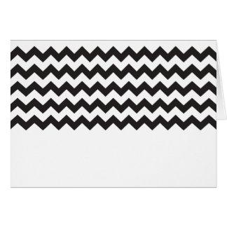 Black zig zags zigzag chevron pattern greeting cards
