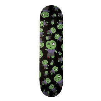 Black zombies skate deck