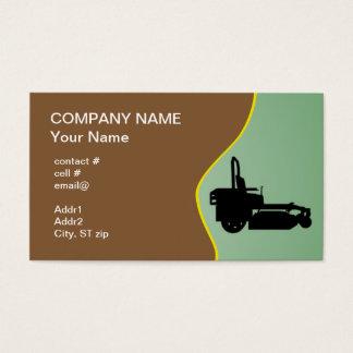 Black ZTR mower Business Card