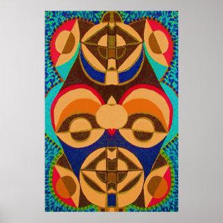 BlackArt in Color -  African Mascot Art Poster