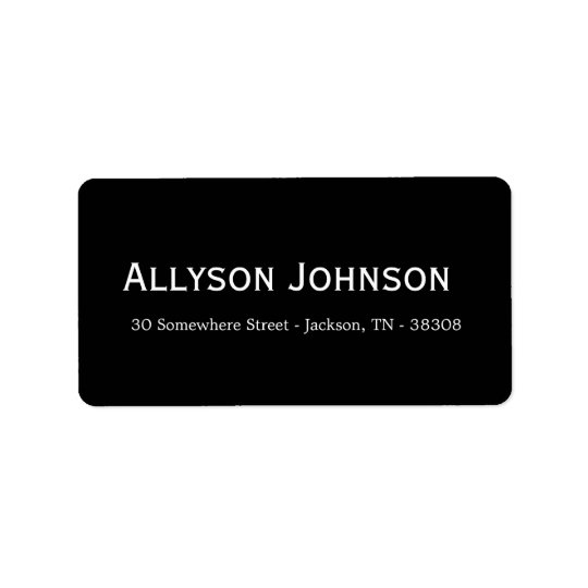 BlackBackground Address Labels