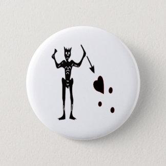 Blackbeard-Black 6 Cm Round Badge