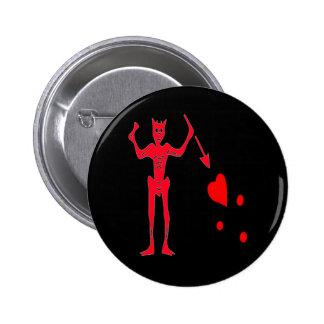 Blackbeard-Red 6 Cm Round Badge