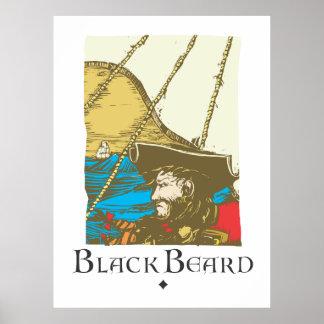 Blackbeard the Pirate Poster