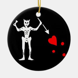Blackbeards Flag Christmas Ornament