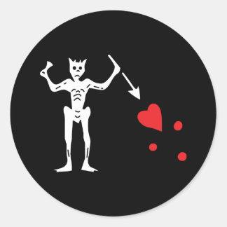 Blackbeard's Pirate Flag Round Sticker