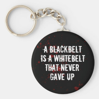 Blackbelt Basic Round Button Key Ring
