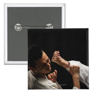 Blackbelt Being Kicked in the Head 15 Cm Square Badge