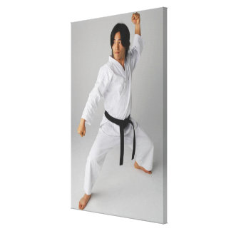 Blackbelt In An At Ready Stance Canvas Print