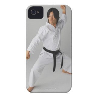 Blackbelt In An At Ready Stance iPhone 4 Cases