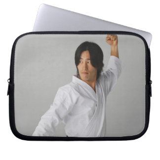 Blackbelt In An At Ready Stance Laptop Sleeve