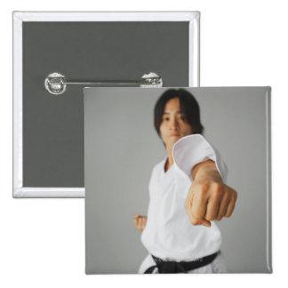 Blackbelt Punching 15 Cm Square Badge
