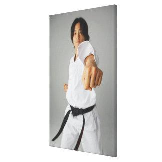 Blackbelt Punching Canvas Print